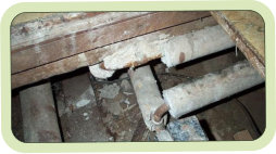 Asbestos Covered Pipes